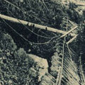 Postcard: Picture of damage to train tracks at Hakone