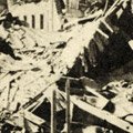 Photograph: Scene of destruction in Yokohama