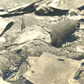 Photograph: Dead bodies in the ruins of Tokyo