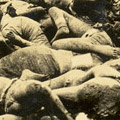 Photograph: Dead bodies at the site of the Honjo Clothing Depot