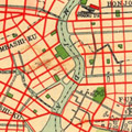 Map: Reconstruction plans for City of Tokyo